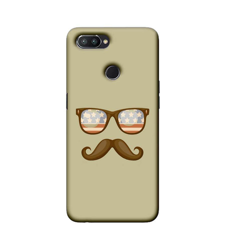 Oppo Realme U1 Mobile Cover Printed Designer Case Spect and Moustache