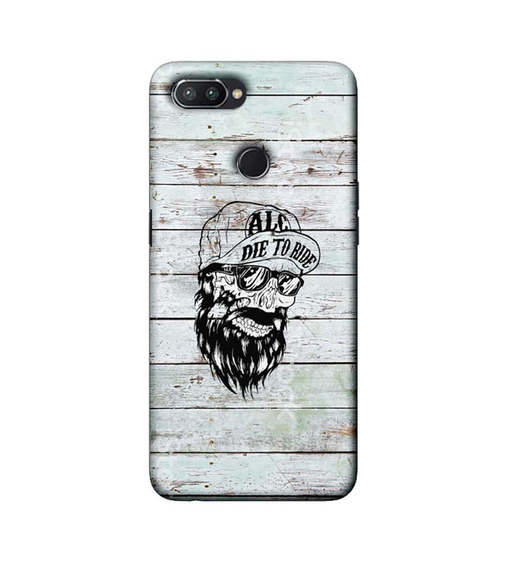 Oppo Realme U1 Mobile Cover Printed Designer Case Beard Skeleton