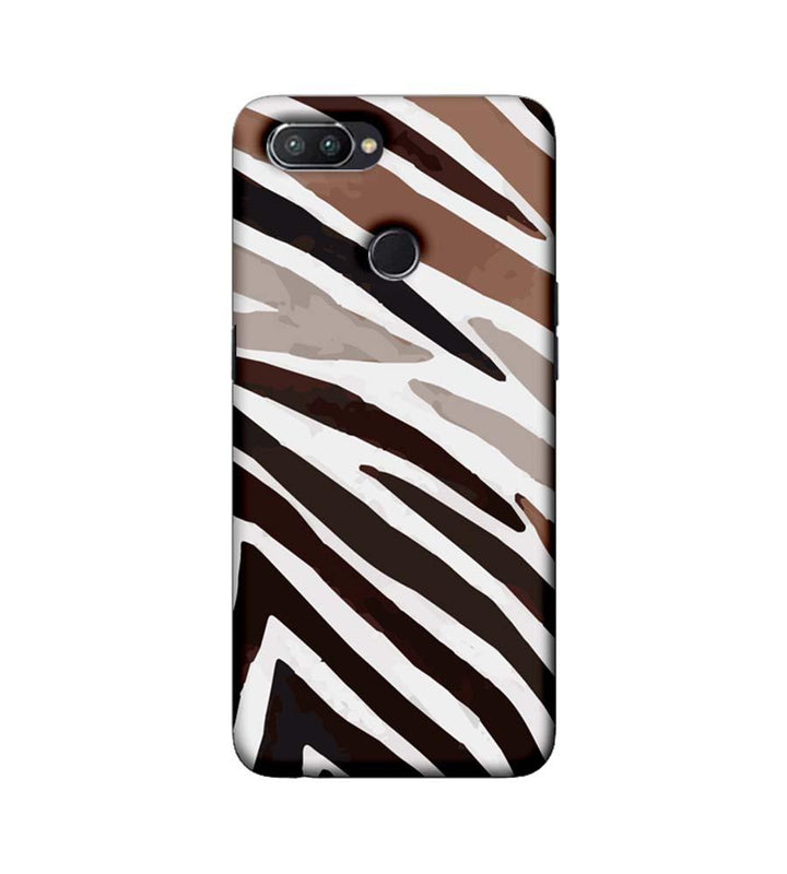 Oppo Realme U1 Mobile Cover Printed Designer Case Black and Brown Stripe