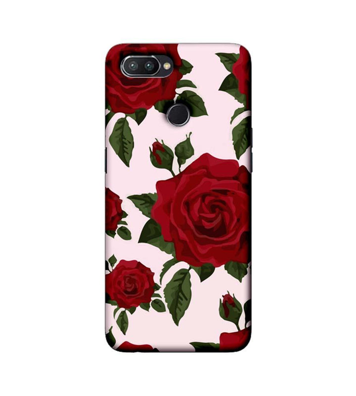 Oppo Realme U1 Mobile Cover Printed Designer Case Red Rose