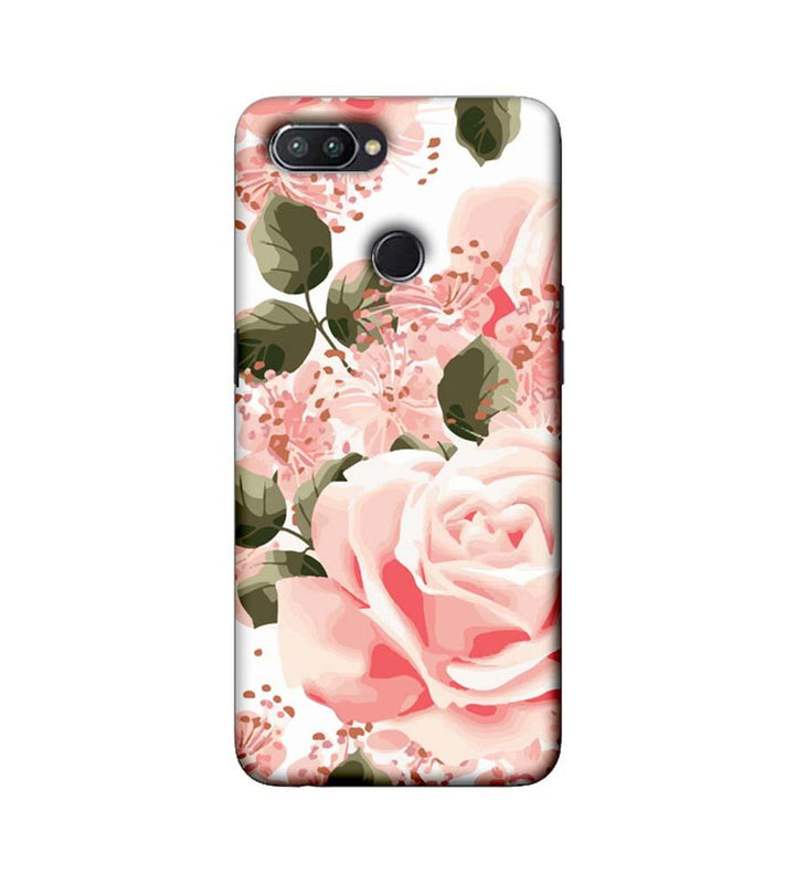 Oppo Realme U1 Mobile Cover Printed Designer Case Pink Rose