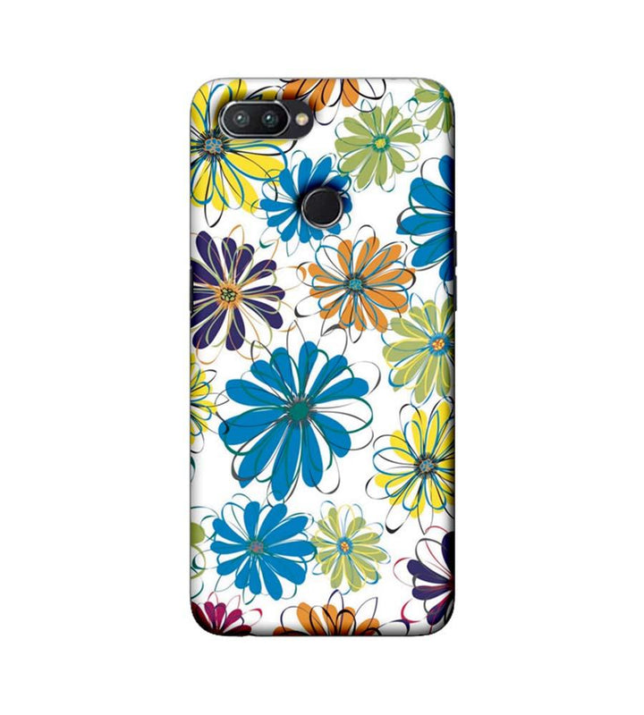 Oppo Realme U1 Mobile Cover Printed Designer Case Floral Pattern three