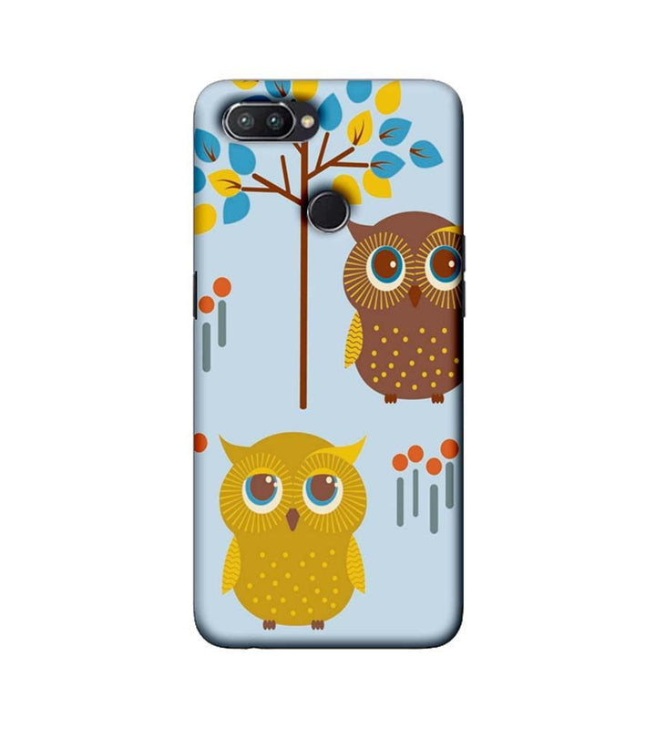 Oppo Realme U1 Mobile Cover Printed Designer Case Indian Art Owls