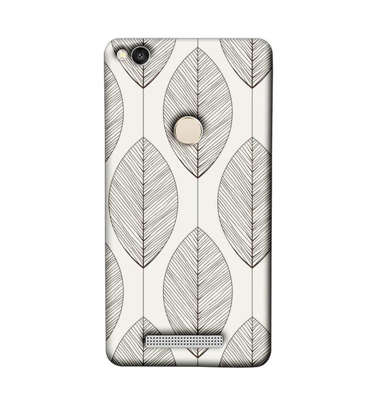 Xiaomi Redmi 3s Prime Mobile Cover Printed Designer Case Leaves illustrator