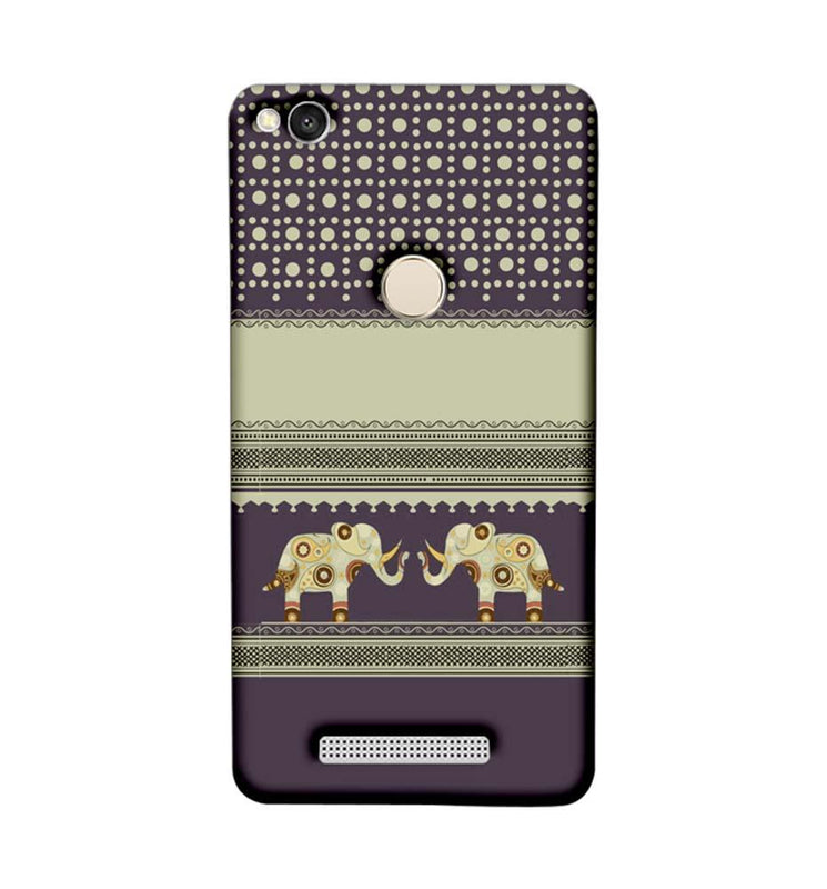 Xiaomi Redmi 3s Prime Mobile Cover Printed Designer Case Elephants Indian Art