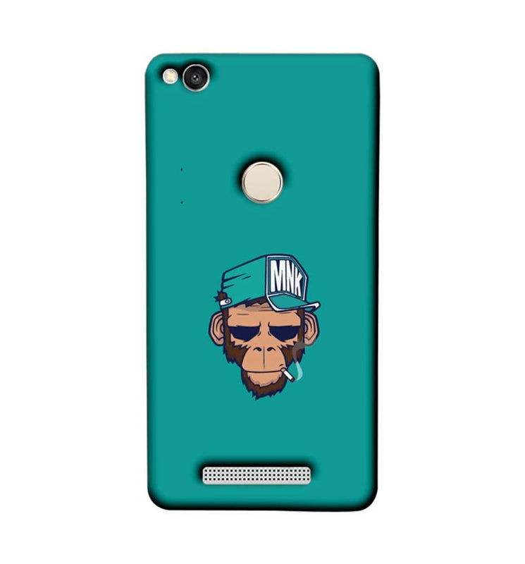 Xiaomi Redmi 3s Prime Mobile Cover Printed Designer Case Smoking Monkey