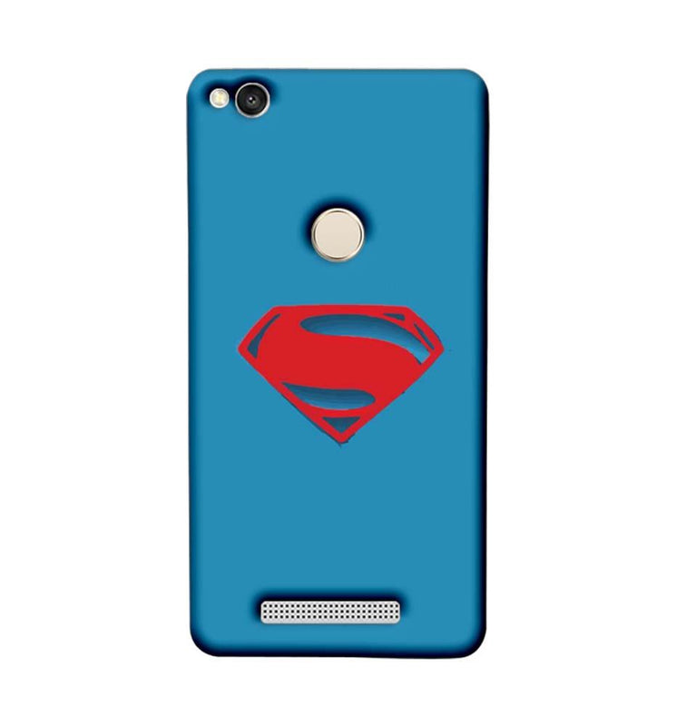 Xiaomi Redmi 3s Prime Mobile Cover Printed Designer Case Superman Logo 2.0