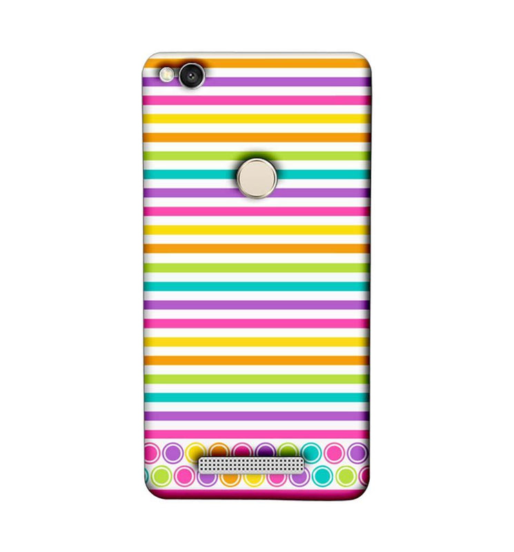 Xiaomi Redmi 3s Prime Mobile Cover Printed Designer Case Stripes Pattern Three