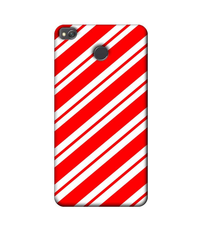 Xiaomi Redmi 4 / 4X Mobile Cover Printed Designer Case Red and White Stripes
