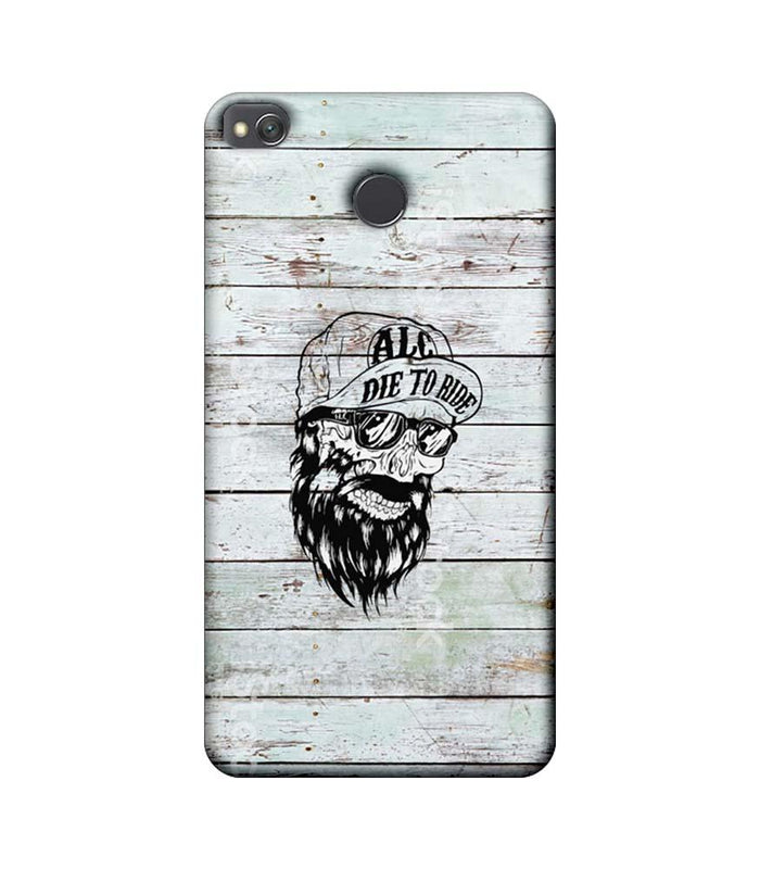 Xiaomi Redmi 4 / 4X Mobile Cover Printed Designer Case Beard Skeleton