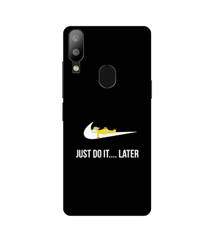 Samsung Galaxy M20 Mobile Cover Printed Designer Case Just Do it later