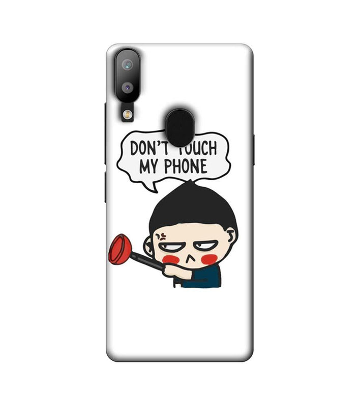 Samsung Galaxy M20 Mobile Cover Printed Designer Case Don't Touch My Phone 2.0