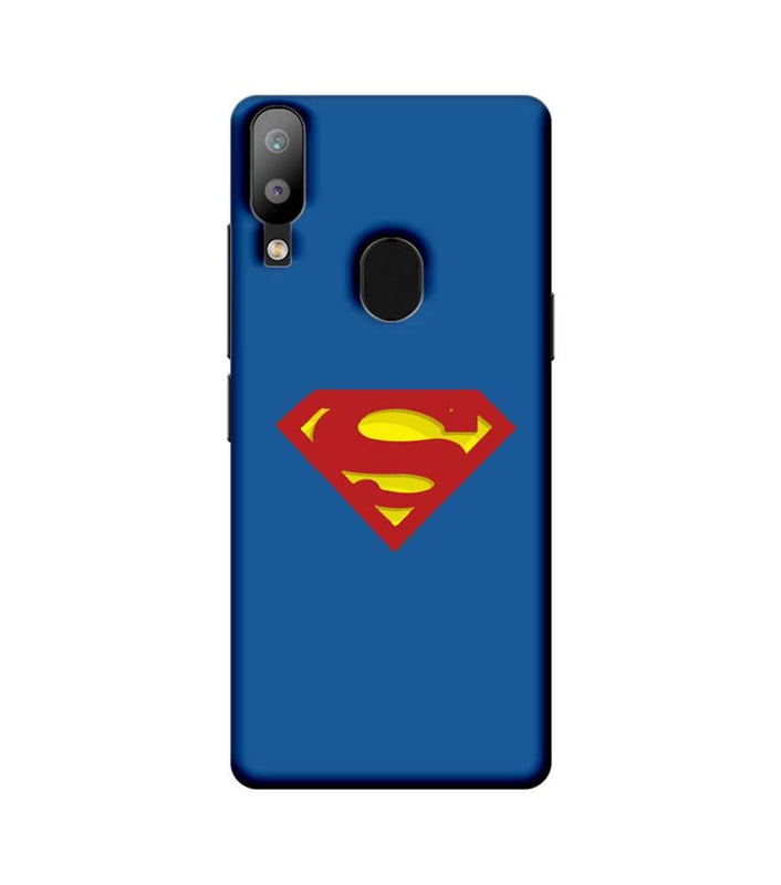 Samsung Galaxy M20 Mobile Cover Printed Designer Case Superman Logo