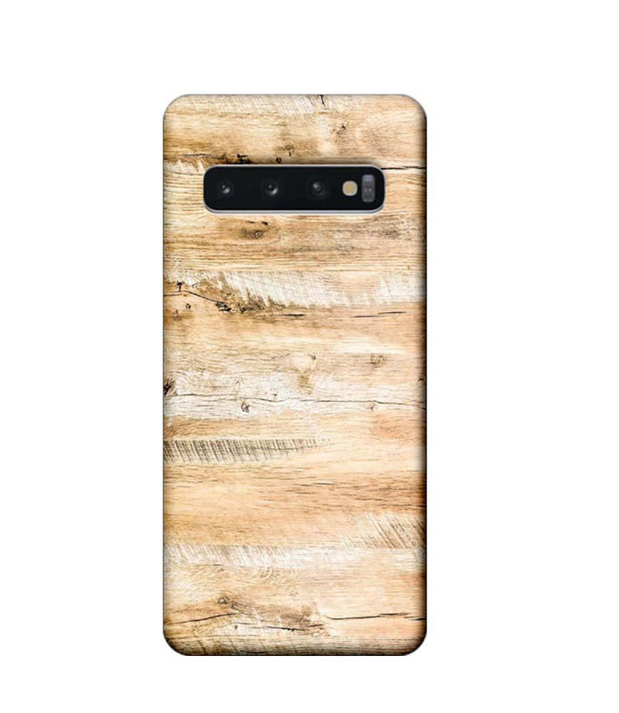 Samsung Galaxy S10 Mobile Cover Printed Designer Case Light Brown Wood