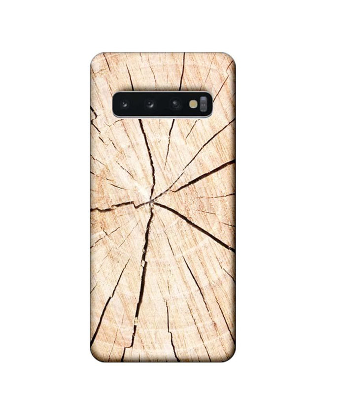 Samsung Galaxy S10 Mobile Cover Printed Designer Case Crack Wood