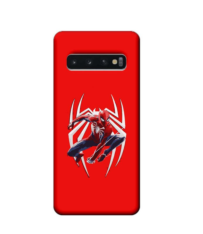 Samsung Galaxy S10 Mobile Cover Printed Designer Case Spiderman with Logo