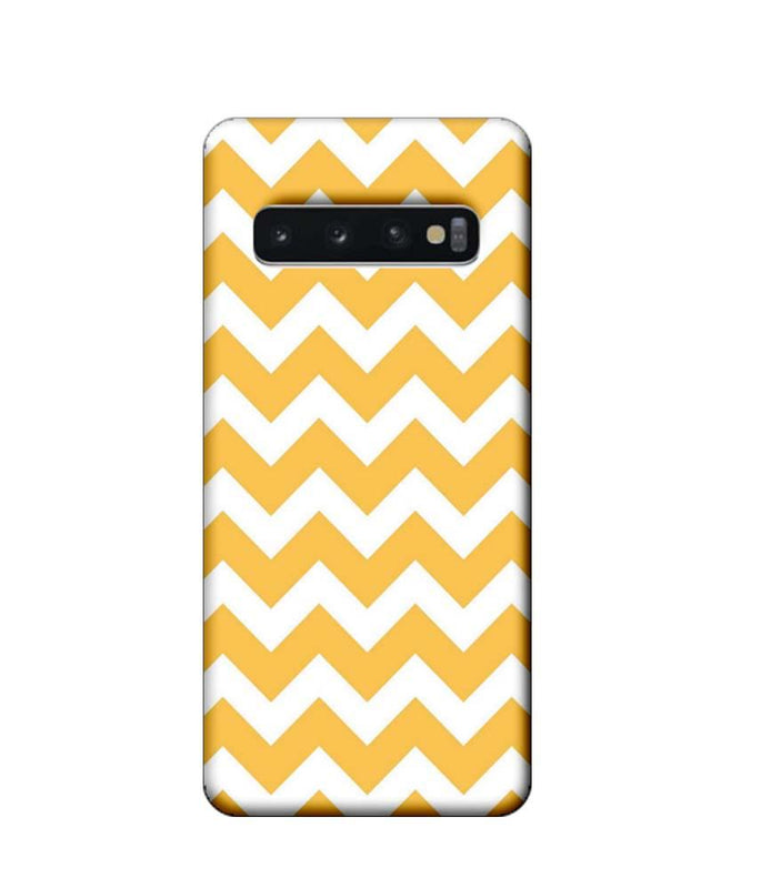 Samsung Galaxy S10 Mobile Cover Printed Designer Case Yellow Colour Stripes