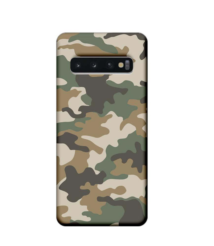 Samsung Galaxy S10 Mobile Cover Printed Designer Case Military Pattern