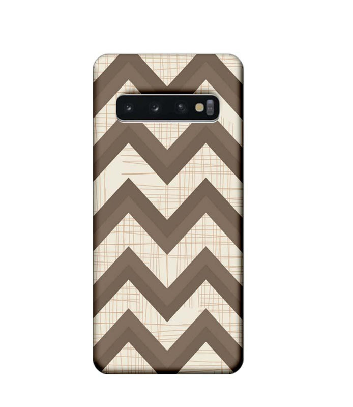 Samsung Galaxy S10 Mobile Cover Printed Designer Case Elephant colour Zigzag