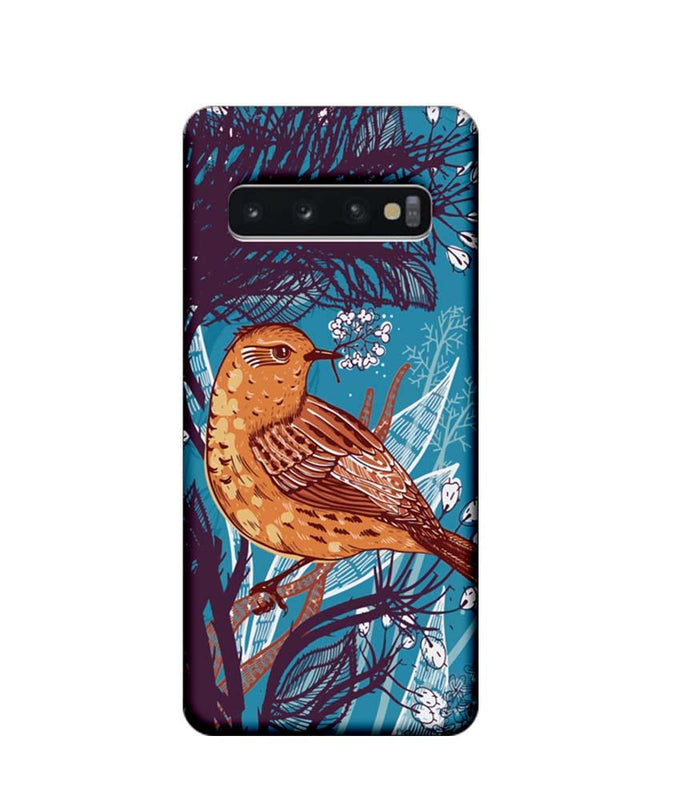 Samsung Galaxy S10 Mobile Cover Printed Designer Case Bird