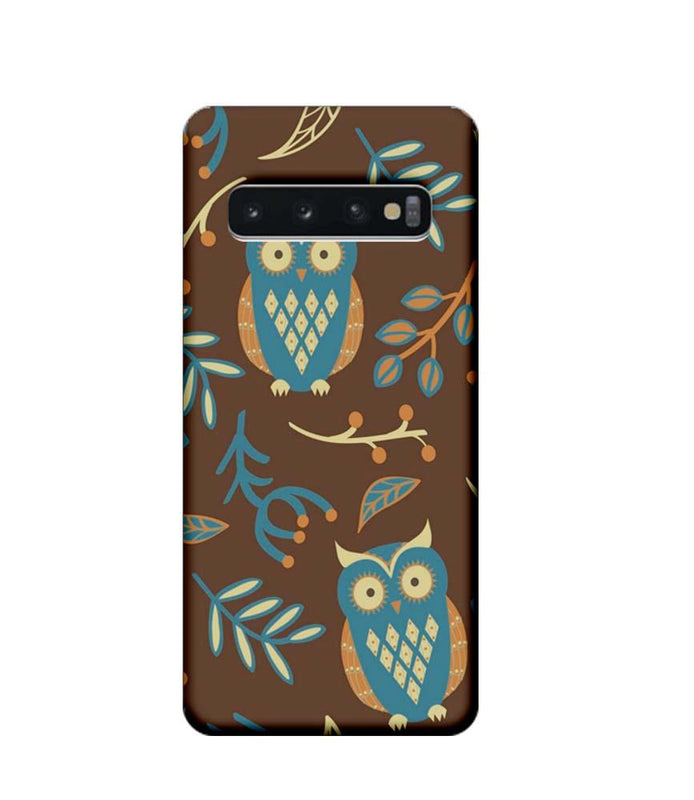 Samsung Galaxy S10 Mobile Cover Printed Designer Case Indian Art Owl
