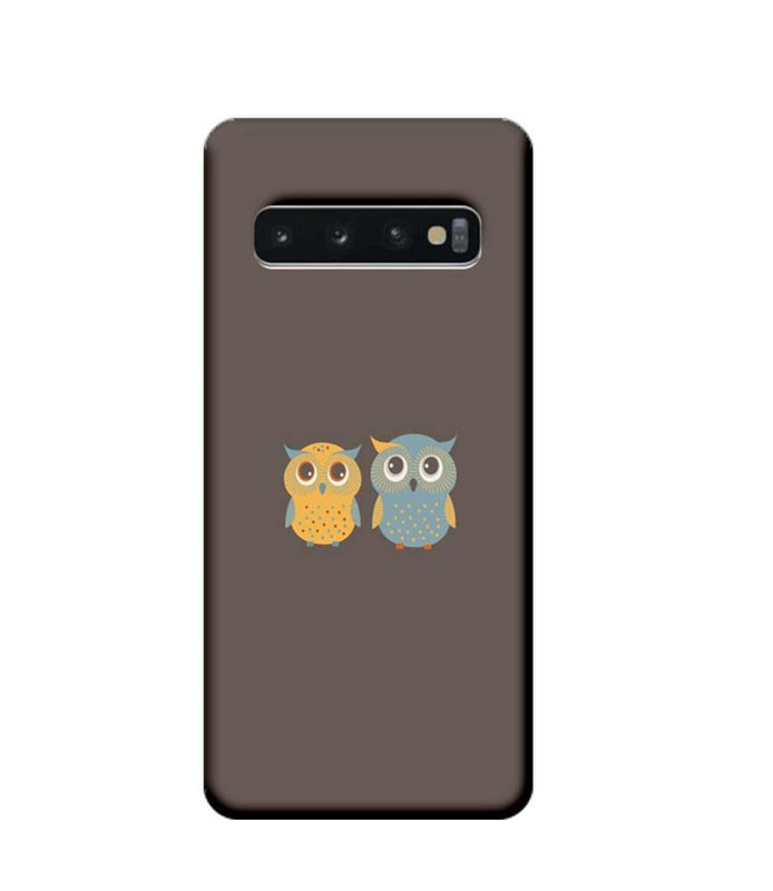 Samsung Galaxy S10 Mobile Cover Printed Designer Case Dual Owls