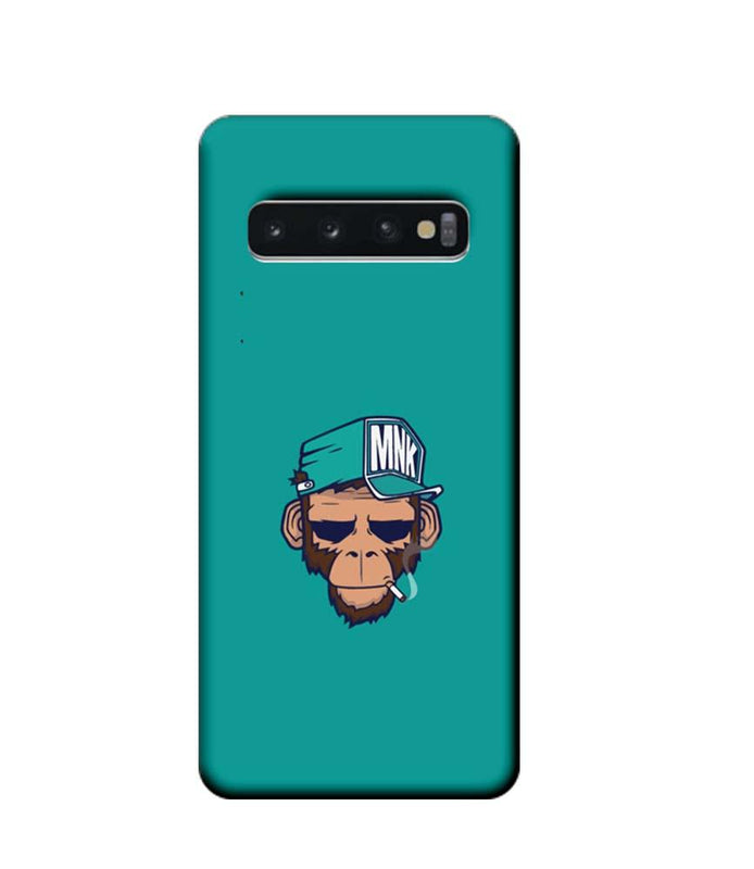 Samsung Galaxy S10 Mobile Cover Printed Designer Case Smoking Monkey