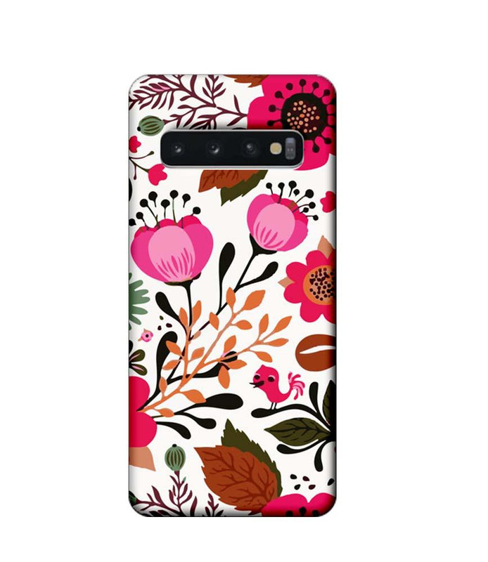 Samsung Galaxy S10 Mobile Cover Printed Designer Case Flower Art