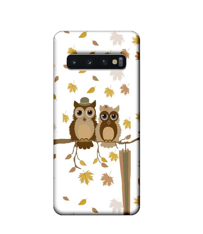 Samsung Galaxy S10 Mobile Cover Printed Designer Case Owls