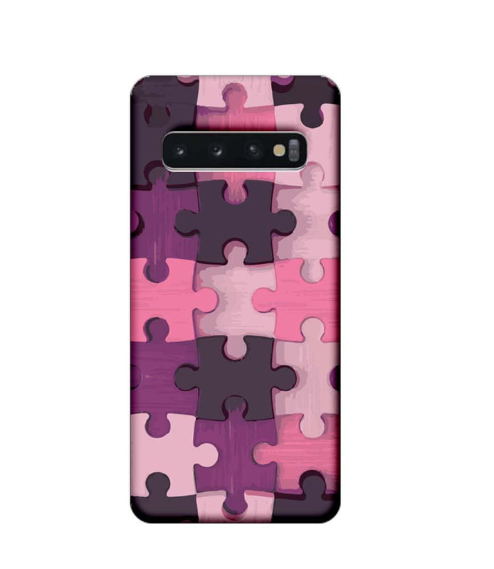 Samsung Galaxy S10 Mobile Cover Printed Designer Case Puzzle