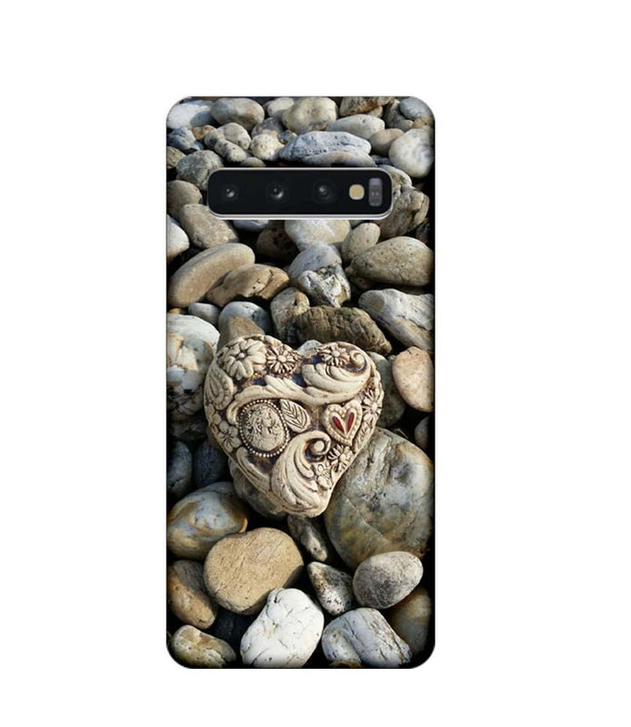 Samsung Galaxy S10 Mobile Cover Printed Designer Case Heart Stone