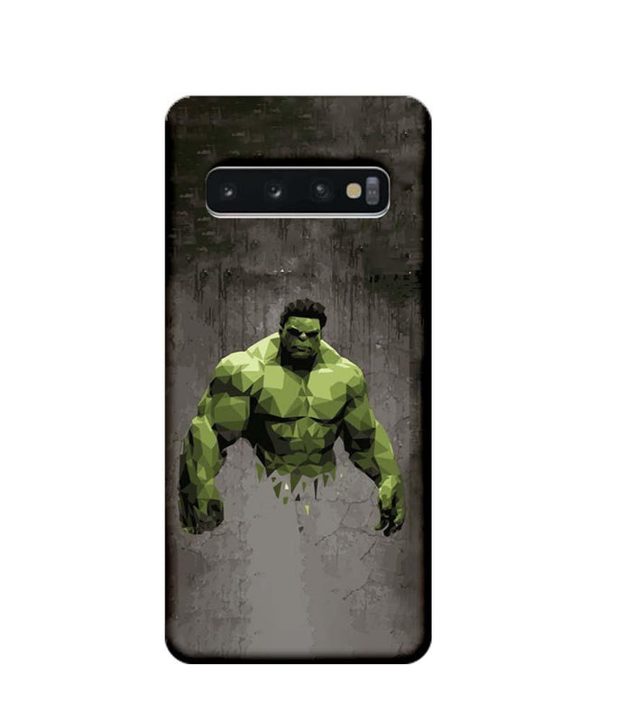 Samsung Galaxy S10 Mobile Cover Printed Designer Case Super Power Hulk