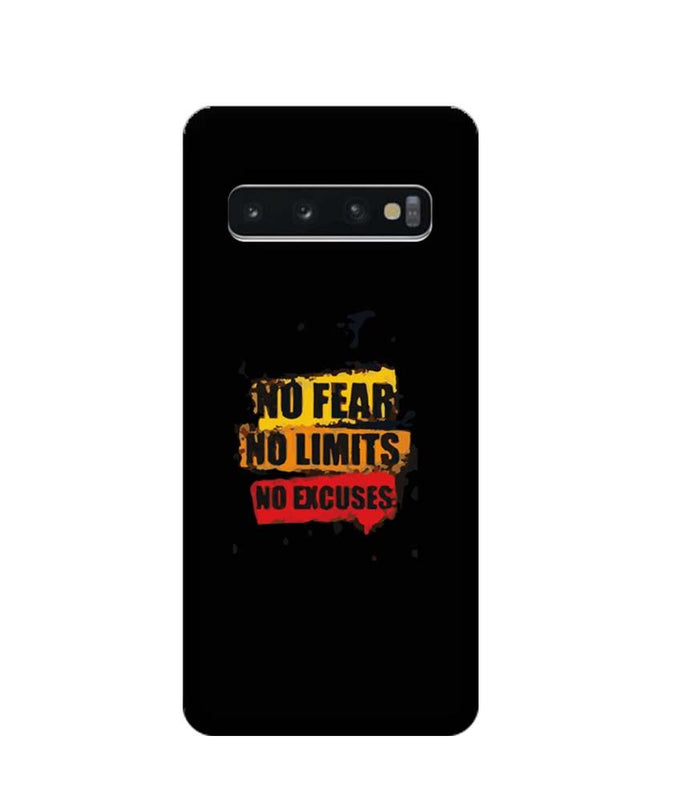 Samsung Galaxy S10 Mobile Cover Printed Designer Case No Fear No Limits