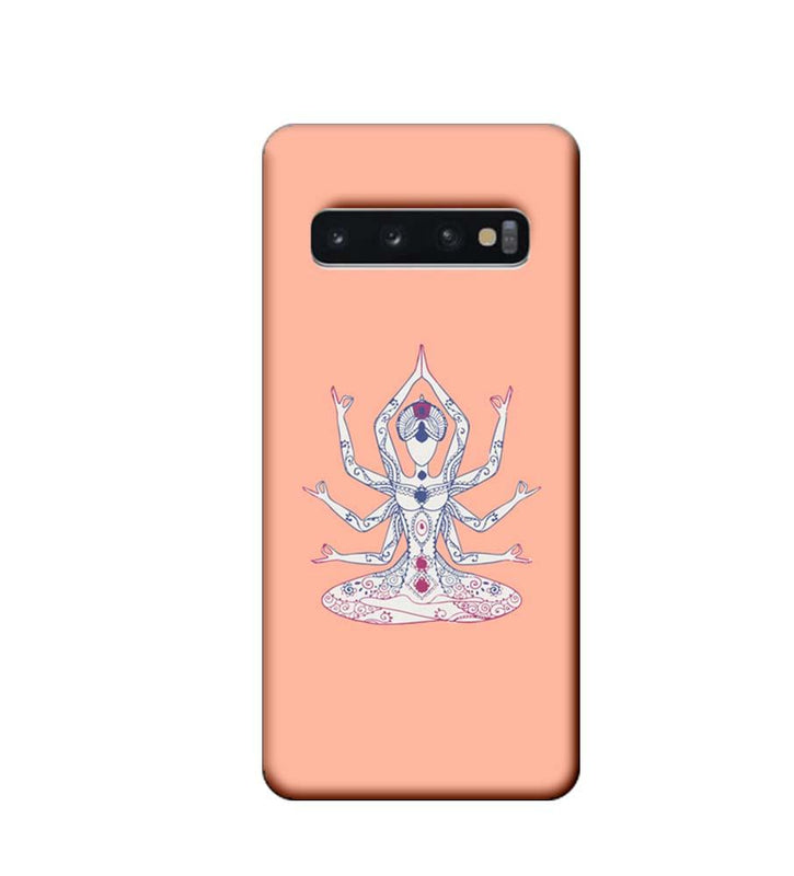 Samsung Galaxy S10 Plus Mobile Cover Printed Designer Case Yoga illustration