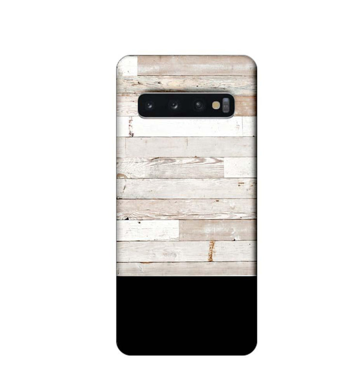 Samsung Galaxy S10 Plus Mobile Cover Printed Designer Case Black and White Wood