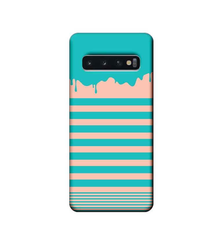 Samsung Galaxy S10 Plus Mobile Cover Printed Designer Case Stripes and Brush Stroke
