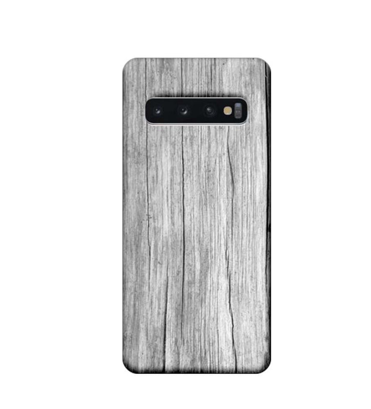 Samsung Galaxy S10 Plus Mobile Cover Printed Designer Case White Dust Wood