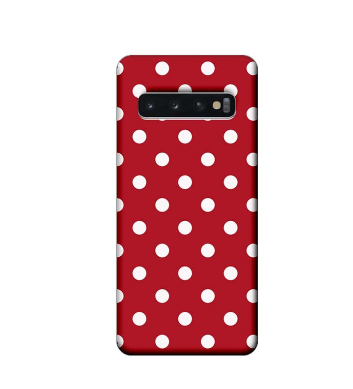 Samsung Galaxy S10 Plus Mobile Cover Printed Designer Case Marron Polka Dots