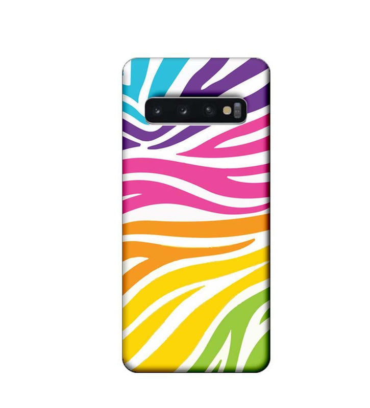 Samsung Galaxy S10 Plus Mobile Cover Printed Designer Case Multicolour Zebre Pattern