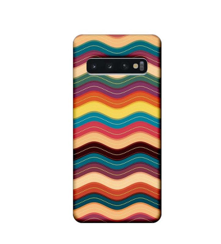 Samsung Galaxy S10 Plus Mobile Cover Printed Designer Case Multi Colour Waves
