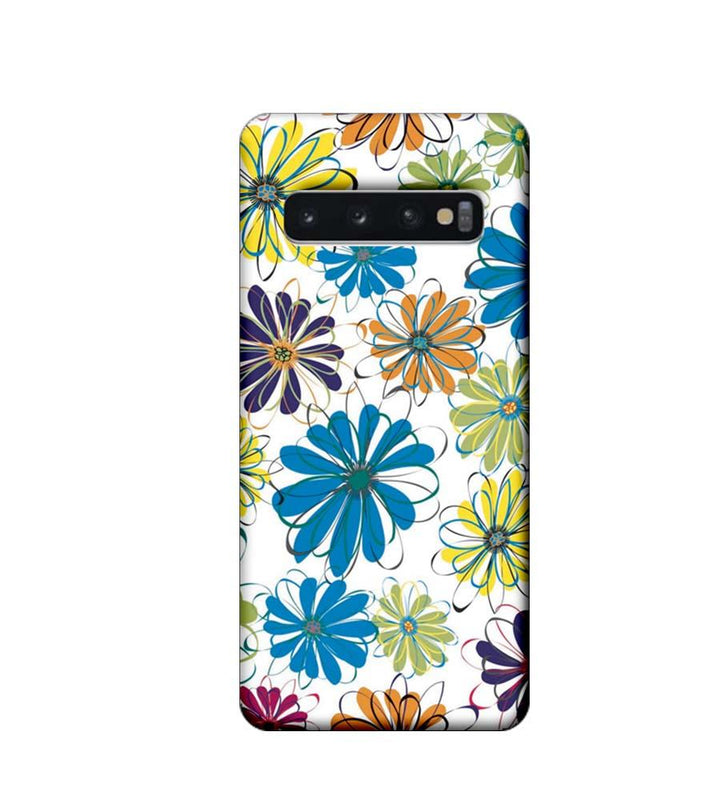 Samsung Galaxy S10 Plus Mobile Cover Printed Designer Case Floral Pattern three