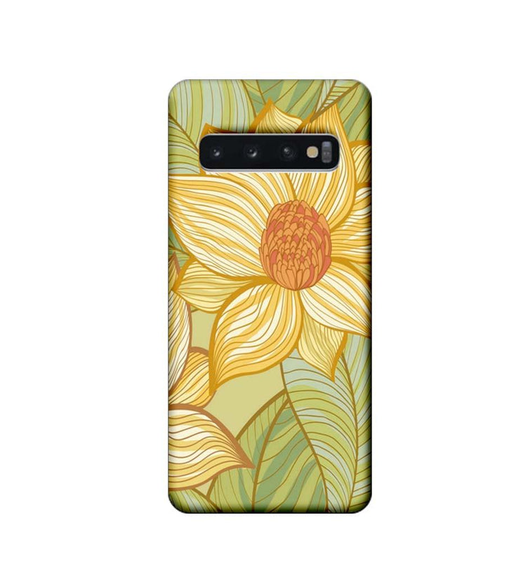 Samsung Galaxy S10 Plus Mobile Cover Printed Designer Case Floral Art