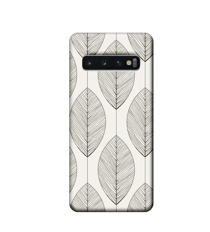 Samsung Galaxy S10 Plus Mobile Cover Printed Designer Case Leaves illustrator