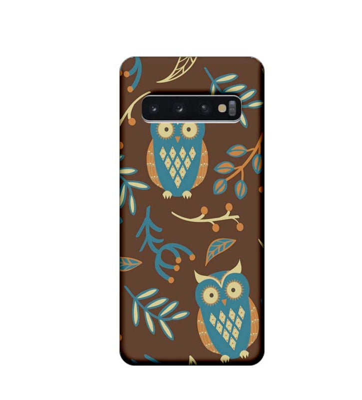 Samsung Galaxy S10 Plus Mobile Cover Printed Designer Case Indian Art Owl
