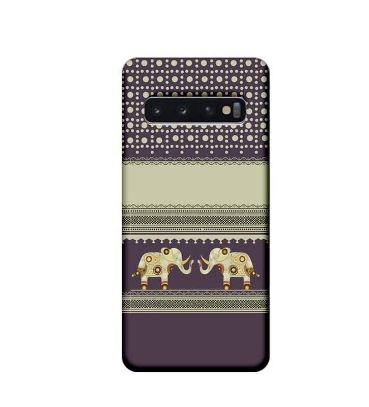 Samsung Galaxy S10 Plus Mobile Cover Printed Designer Case Elephants Indian Art