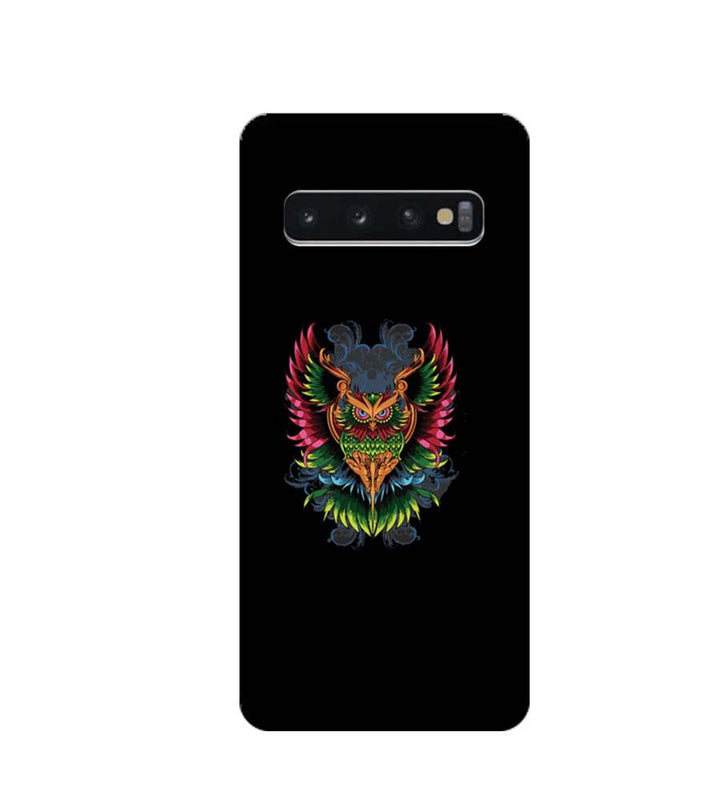 Samsung Galaxy S10 Plus Mobile Cover Printed Designer Case colourful owl 2.0