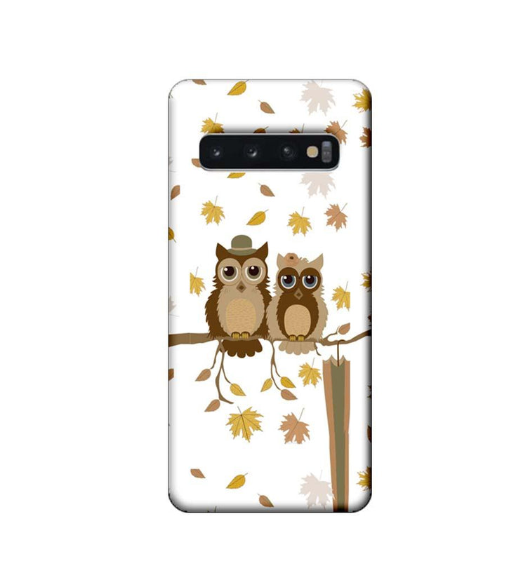 Samsung Galaxy S10 Plus Mobile Cover Printed Designer Case Owls