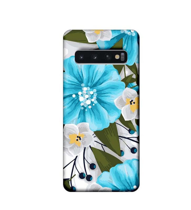 Samsung Galaxy S10 Plus Mobile Cover Printed Designer Case Blue Floral