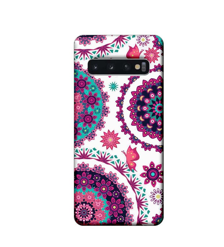 Samsung Galaxy S10 Plus Mobile Cover Printed Designer Case Circle Pattern