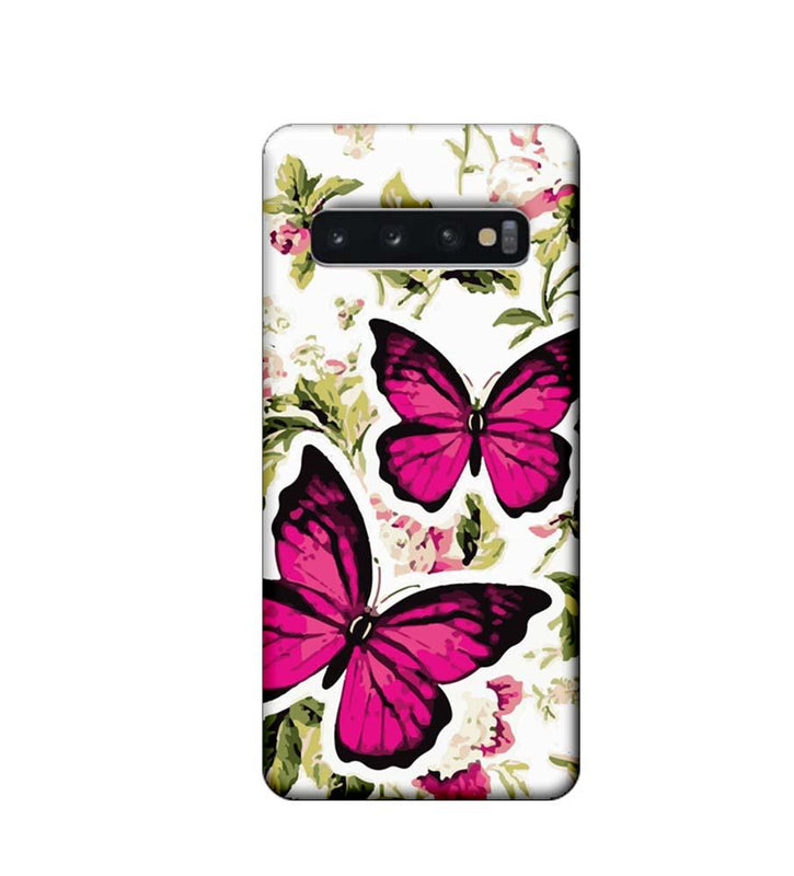 Samsung Galaxy S10 Plus Mobile Cover Printed Designer Case Butterflies Art
